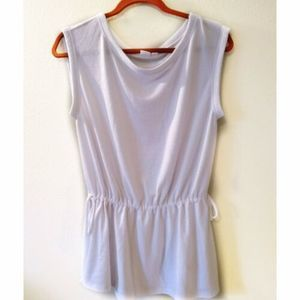 GAP Tunic Drawstring Drop Waist Scoop Neck